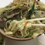 お食事処 波布 - 野菜をかきわけ麺 アップ