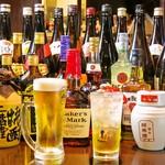 本格中華ダイニング 豫園小龍包 - 中華料理だけでなく、和食も居酒屋も経験してきた店長だからこそ、幅広いドリンクをご用意してお待ちしています!ビール、ウイスキー、サワー、果実酒、マッコリ、ワイン、日本酒、カクテル、焼酎、中国酒(白酒)、紹興酒、あったかい中国茶、ソフトドリンク、あわせて100種類以上の充実した取り揃え☆