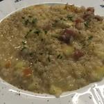 Taverna Mezzanotte - パンチェッタと林檎のチーズリゾット