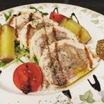 Taverna Mezzanotte - 地鶏胸肉と生ハムのインボルティーニ