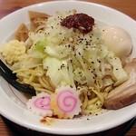 麺屋 虎司 - 【特製まぜそば + 半熟味付玉子】¥740 + ¥100