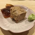 鮨 あらい - 鮟肝、西瓜の奈良漬け