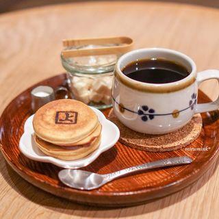 喫茶 上る - ミニどら焼き、コーヒー