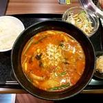 92989099 - ランチのユッケジャン温麺