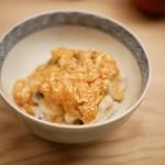 緒方 - 穴子の天丼 卵かけご飯
