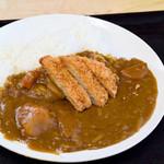 構内食堂 - 料理写真:カツカレー(日替りカレーライス+トンカツ)