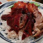 Tokikaisenhinabesaikan - ランチEセットの焼鴨、焼鳥ごはん