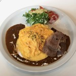 Butter - 贅沢 神戸牛 ふわふわオムカレー、ライス大盛り