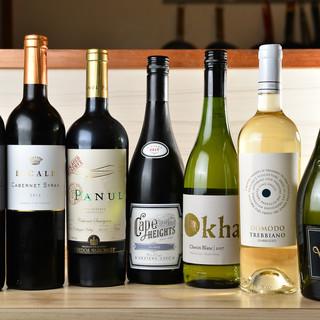 ◇常時10種類◇こだわりのワインと共に至福のひと時を…☆*