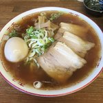 喜多方食堂 - 「醤油ラーメン」650円+「味玉」100円+「麺大盛」100円
