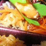 たもかみ - やまぶき弁当 864円(税込)の惣菜のアップ【2018年9月】