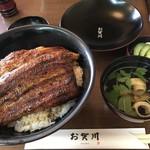 うなぎ お㚙川 - 東西鰻重二段