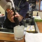 うなぎ 丸富 - ドリンク写真:シャーベット酒1