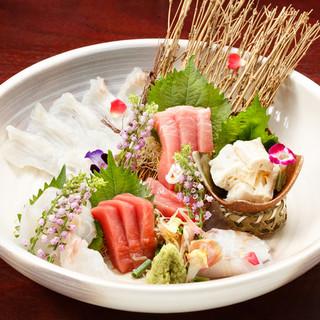 九州直送、鮮魚のお刺身!