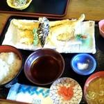 女川海の膳ニューこのり - 活穴子天麩羅定食1550円