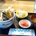 女川海の膳ニューこのり - ミックス天丼1200円