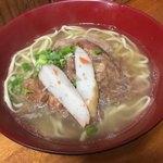 三丁目そば - ナンコツソーキそば(普通麺)