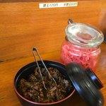 93032865 - 高菜と紅生姜。