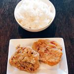 麺や 樂 - 唐揚げセット