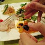 9304689 - 前菜+息子の手