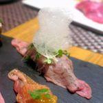93041206 - エスプーマ乗せ肉寿司