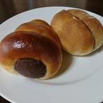 小布施岩崎 - チョココルネとあんバター