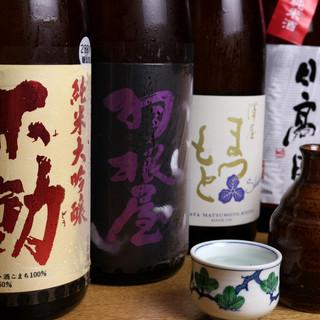 ◇日本酒・焼酎・ワイン◇和の料理と合う酒を幅広くご用意。
