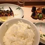 やよい軒 - 料理写真:・なす味噌と焼魚の定食
