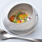 ラヴァンドール - お米とセップ茸のムース