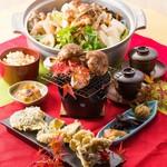 ソースカツ丼・そば きりの実 - 松茸フルコース