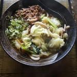 93049848 - 野菜たっぷり肉うどん(560円)
