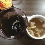 93051323 - スープとアイスコーヒー