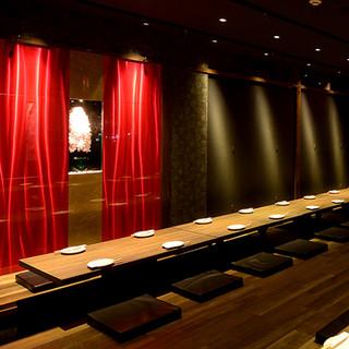 掘りごたつ個室20名様×1 20名様まで完全個室で利用頂けるご宴会向けの個室です