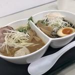 鶏 ソバ カモシ - 味噌&醤油