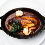 ビストロ・ダルテミス - 白身魚のクネル ビスクソース 季節の野菜添え