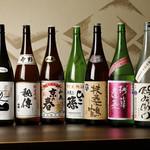 きみまち坂 - 全て純米の日本酒は、常時40種以上。お好みにぴったりの一本をご提案します。