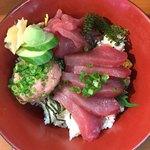 泊いゆまち - マグロ三色丼