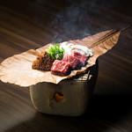 飛騨路 - 料理写真:朴葉味噌ステーキ