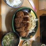 とんかつ春 - 上ロース定食1200円