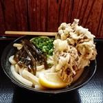 上野製麺所 - ぶっかけ(冷・中)と舞茸天