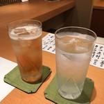 喜想庵 ささ木 - 梅酒ソーダ割・やませみの水割り