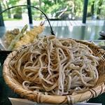 手打そば 鬼七 - 「天ざる(大盛り)」のざる蕎麦
