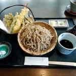 手打そば 鬼七 - 天ざる(大盛り)