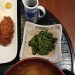 なごみ - 小鉢(カキフライ定食)