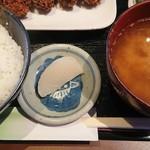 なごみ - 漬物(カキフライ定食)