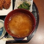 なごみ - 味噌汁(カキフライ定食)