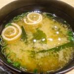 ぶたいち - 味噌汁