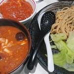 93074064 - 濃厚トマトつけ麺、プチ麻婆丼