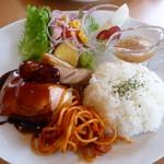 Cafe 茶楽 - ハンバーグ