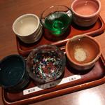 蕎肆 穂乃香 - 日本酒飲み比べ